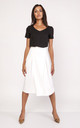 Wrap Midi Skirt In white by Lanti