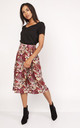 Wrap Midi Skirt In Pattern Print by Lanti