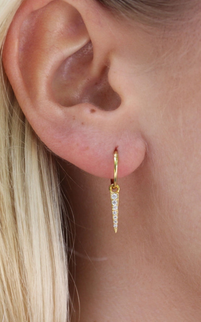 Gold Sparkle Dagger Earring by PYT Jewellery