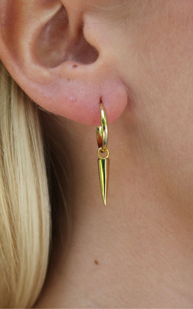 Gold Dagger Earring by PYT Jewellery