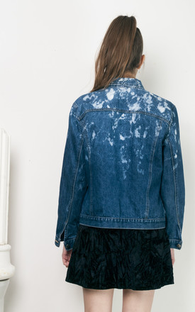 90s reworked bleached denim jacket by Pop Sick Vintage
