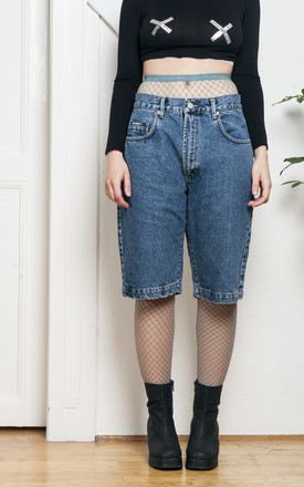 Denim shorts - 90s vintage boyfriend jeans by Pop Sick Vintage