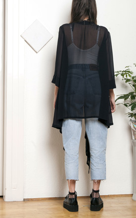 Sheer kimono - 90s vintage festival cardigan by Pop Sick Vintage