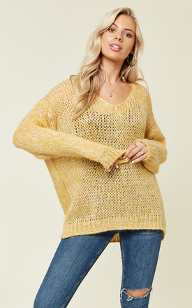 Loose Jumper in Yellow with V Neck by Love