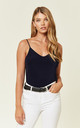 Navy Kortney Low Back Cami Top by Pleat Boutique