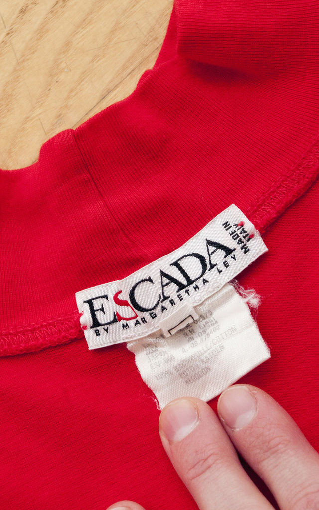 Escada top - 90s vintage mock neck t-shirt by Pop Sick Vintage