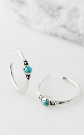 Holi Jewel Hoops - Turquoise by Charlotte's Web