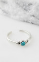 Holi Jewel Adjustable Silver Midi/Toe Ring in Turquoise by Charlotte's Web