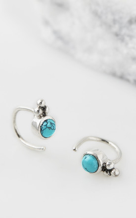 Holi Jewel Stud Hoops   Turquoise by Charlotte's Web Product photo