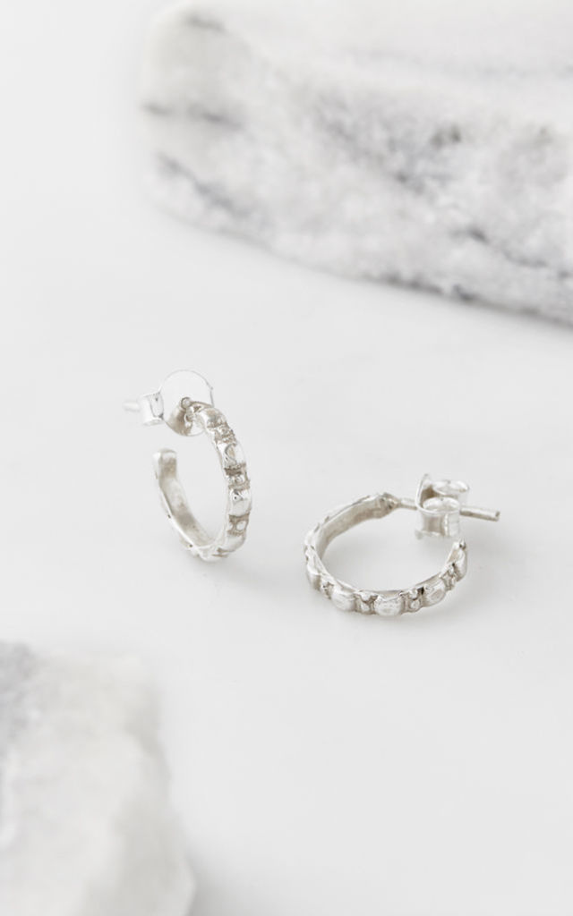 Maharani Small Hoop Earrings in Silver by Charlotte's Web