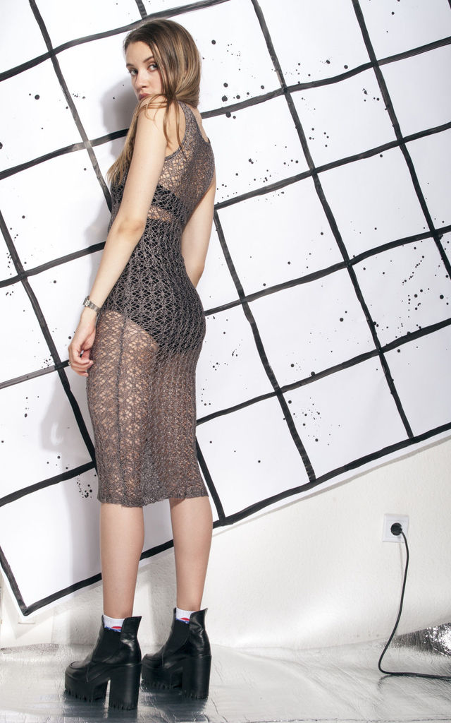 Lace dress - 90s vintage see-through dress by Pop Sick Vintage