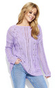 Lilac Oversized Knit Jumper by Makadamia