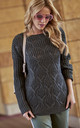 Graphite Openwork Jumper Sweater by Makadamia