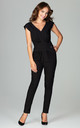Black Jumpsuit With Pleating by LENITIF