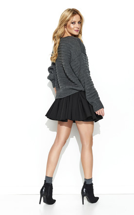Graphite Long Back Knitwear Jumper by Makadamia