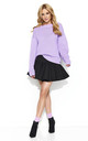 Lilac Long Back Knitwear Jumper by Makadamia