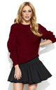 Maroon Long Back Knitwear Jumper by Makadamia