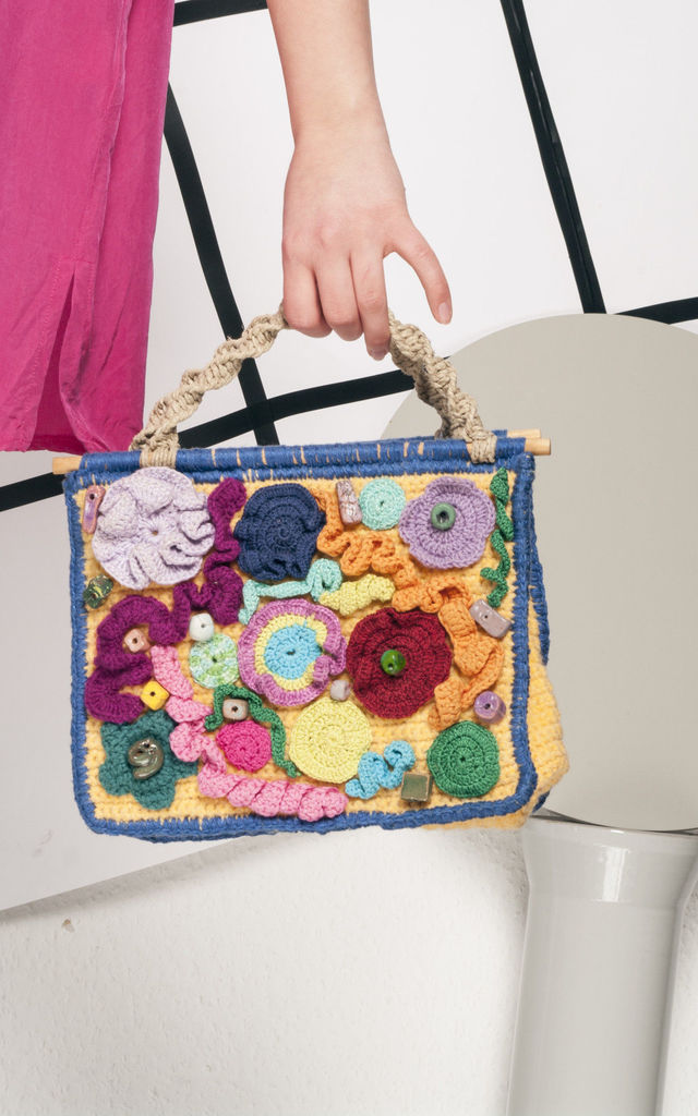 90s vintage crocheted handbag by Pop Sick Vintage