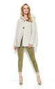 Beige Hooded Cardigan With Two Buttons by Makadamia