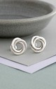 Sterling Silver Russian Ring Stud Earrings by Posh Totty Designs