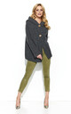 Graphite Hooded Cardigan With Two Buttons by Makadamia