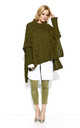 Braid Weave Oversized Jumper in Khaki Green by Makadamia