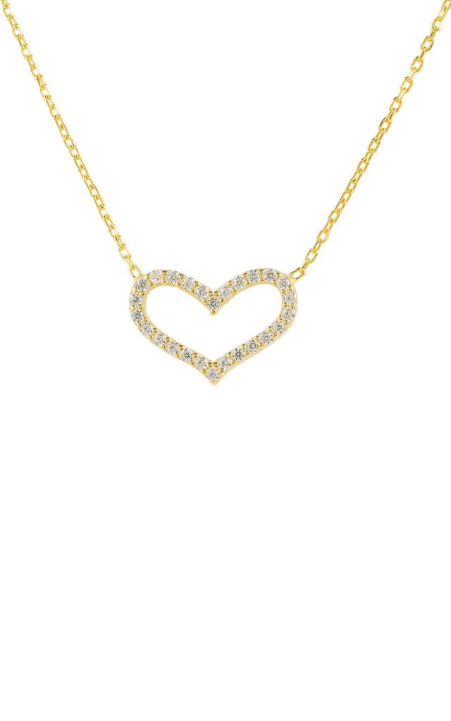 LOVE HEART NECKLACE GOLD by Latelita