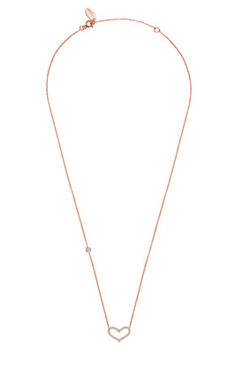 LOVE HEART NECKLACE ROSEGOLD by Latelita