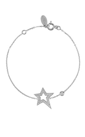 OPEN STAR BRACELET SILVER by Latelita