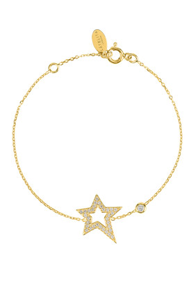 OPEN STAR BRACELET GOLD by Latelita