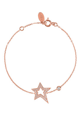 OPEN STAR BRACELET ROSEGOLD by Latelita
