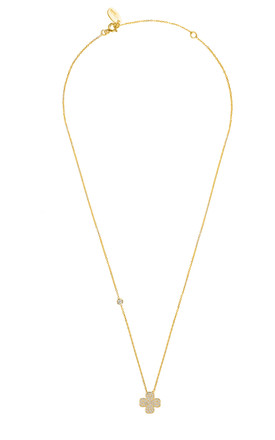 LUCKY FOUR LEAF CLOVER NECKLACE GOLD by Latelita