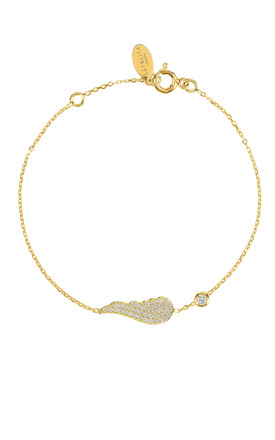 SMALL ANGEL WING BRACELET GOLD by Latelita