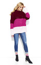 Pink Three Colors Long Back Jumper by Makadamia
