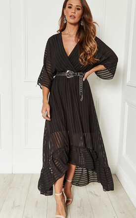 daa389d6e4 Black Plunge Maxi Dress