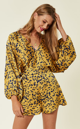 Yellow Floral Print Co ord Set by Another Look