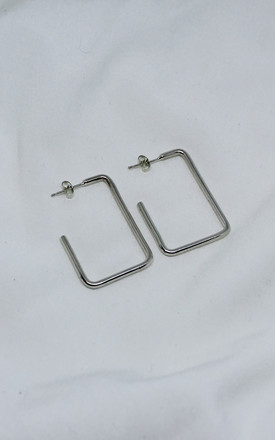 sterling silver square hoop earrings by Studio Adorn