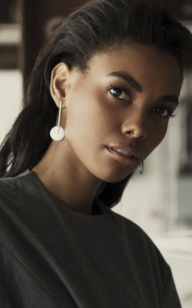 Sterling silver statement drop stud earrings by Studio Adorn