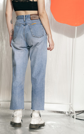Reworked jeans - 90s vintage cropped denim trousers by Pop Sick Vintage
