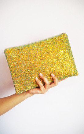 Glitter Clutch Bag In Rust Gold by Suki Sabur Designs Product photo