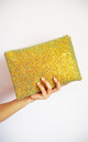 Glitter Clutch Bag in Rust Gold by Suki Sabur Designs