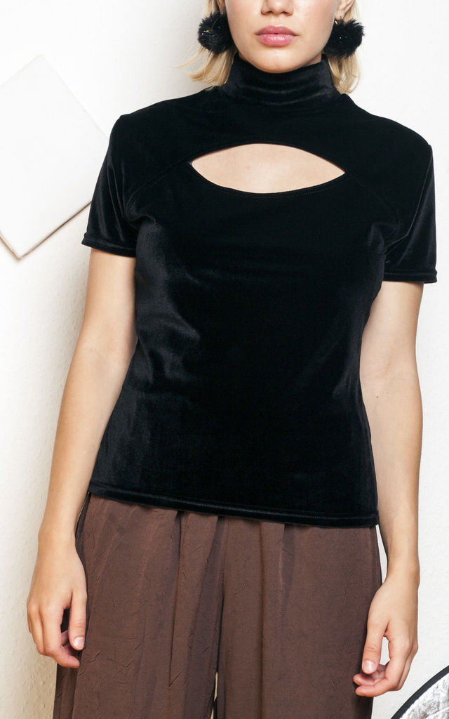 90s vintage cut out velvet top by Pop Sick Vintage