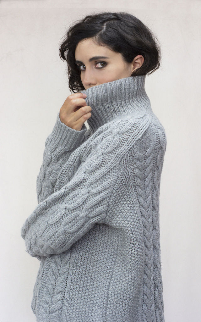 THE IGGY LAMBSWOOL CABLE JUMPER by IGGY & BURT
