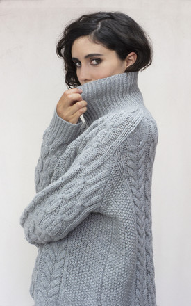 The Iggy Lambswool Cable Jumper by IGGY & BURT Product photo