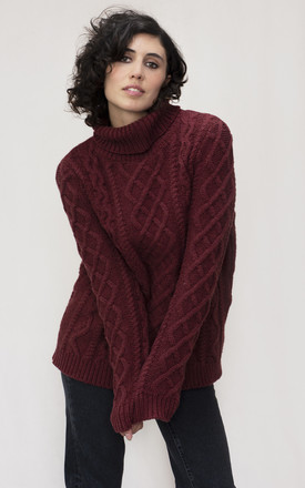 The Burt Lambswool Roll Neck Jumper by IGGY & BURT Product photo