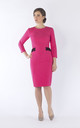 Augusta midi dress in pink by JEVA FASHION