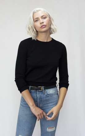 Cashmere Blend Jumper In Black by IGGY & BURT Product photo