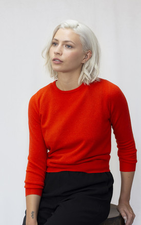Cashmere Blend Jumper In Red by IGGY & BURT Product photo