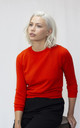Cashmere-blend jumper in red by IGGY & BURT