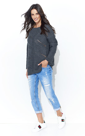 Graphite Openwork Front Jumper by Makadamia